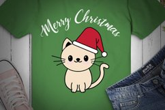 CAT SVG XMAS, Cat Christmas, cream cat, cat happy xmas Product Image 2