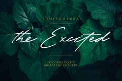 The Excited - Signature Font Product Image 1