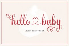 hello baby - Lovely Script font Product Image 1