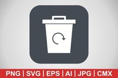 Vector Garbage Recycle Icon Product Image 1