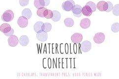 Watercolor confetti border overlays Product Image 1