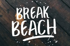 BREAK BEACH - BRUSH FONT Product Image 1