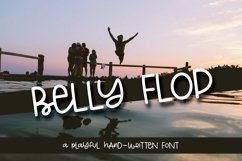 Belly Flop - A Playful Hand-Written Font Product Image 1