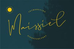 Maissiel | Signature Font Product Image 1