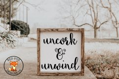 Uncork and Unwind SVG PNG DXF Cut File, Wine Lover Product Image 1