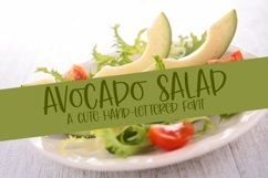 Web Font Avocado Salad - A Cute Hand-Lettered Font Product Image 1