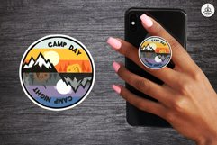 Sticker Bundle PNG! Printable Camp Stickers For Cricut SVG Product Image 3