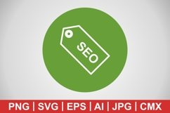 Vector SEO Tag Icon Product Image 1