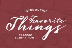 Favorite Things Font Product Image 1