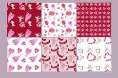 Valentine's watercolor clipart,digital papers Product Image 5