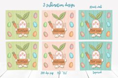Happy Easter Png. Easter sublimation design. Skinny tumbler Product Image 2