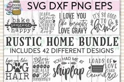Rustic Home Bundle of 42 SVG DXF PNG EPS Cutting Files Product Image 1