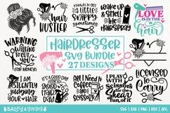 Hairdresser SVG Bundle | Hair Stylist & Hair Salon SVG Files Product Image 1