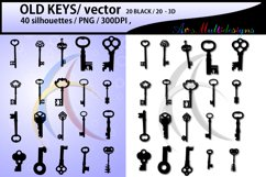old keys / old key / old key silhouette svg / old key clipart / printable old keys / 300 dpi / 3d old keys / old keys dxf / keys / SVG / PNG Product Image 1