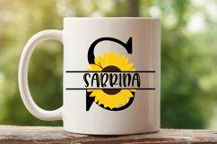 Sunflower Split Letters A-Z - 26 Split Monogram SVG files Product Image 5