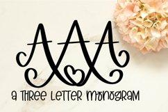 Web Font 3 Letter Monogram Font Product Image 1