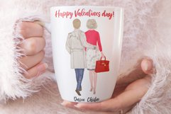 Couples Clpart Elegant man and women Valentines Clipart Png Product Image 8