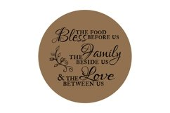 Bless the Food, Family, & Love - SVG PNG EPS Product Image 2