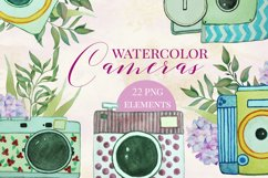 Watercolor Vintage Cameras Product Image 4