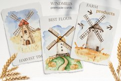 Watercolor Windmills. Cards, frames, wreaths, patterns Product Image 3