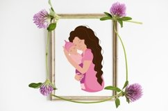 Mom and baby, mom's day clipart, png. eps. Product Image 5