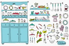 Vector set of kitchen utensils and food. Product Image 2