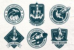 Space Rocket Retro Badge Product Image 2
