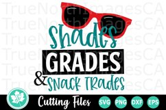 Shades Grades and Snack Trades - A School SVG Cut File Product Image 2