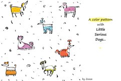 Little Serious Dog - patterns and clip-art Product Image 2