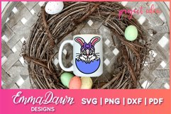 BETTY THE EASTER BUNNY SVG, 2 MANDALA / ZENTANGLE DESIGNS Product Image 5