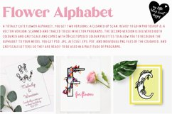 Flower Alphabet - vector and bitmap Product Image 3