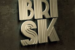 Brisk - ArtDeco Display Font Product Image 3