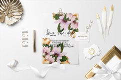 Watercolor Valentine Floral Corners Product Image 5
