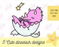 Baby Dinosaur SVG - SVG Files for Cricut, Cute Tshirt Design Product Image 5