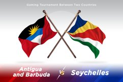 Antigua vs Seychelles Two Flags Product Image 1