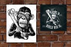 Monkey holding tibia. World War IV lettering. Product Image 1
