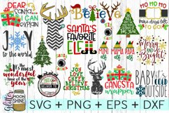 HUGE Christmas Bundle SVG DXF PNG EPS Cutting Files Product Image 1