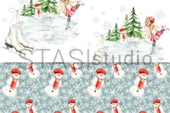 Little Skater Christmas Background Pattern Product Image 5