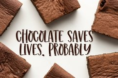 Web Font Chewy Brownies - A Serif With Highlights Product Image 4