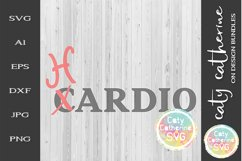 Cardio Hardio SVG Workout Fitness Gym Funny Tee Design Product Image 1