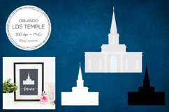 Orlando Florida LDS Temple Clipart Product Image 1