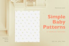Simple Baby Patterns. Animals, nature. Product Image 1