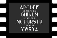 Old movie. Retro serif font Product Image 2