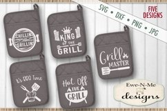 Grilling BBQ Themed Pot Holder Bundle - Fathers Day SVG Product Image 8