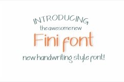 Fini Font Product Image 1
