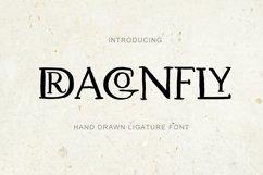 Dragonfly. Uppercase Ligature Font. Product Image 1