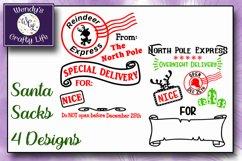 Santa Sack digital bundle of 4 designs - SVG, PNG & PDF Product Image 2
