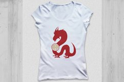 Dragon svg, Dragon monogram svg, Dragon clipart. Product Image 3