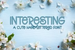 Web Font Interesting - A Cute Hand-Lettered Font Product Image 1