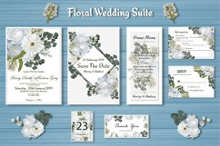 White Floral Wedding Invitation Suite Product Image 1